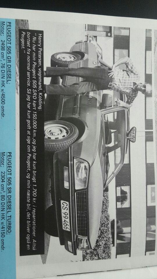 Brochure, Peugeot hyrevogne