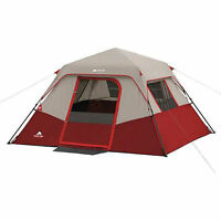 Cabin Instant Camping Tent Shelter 6 Person Outdoor Family Hiking Travel Red