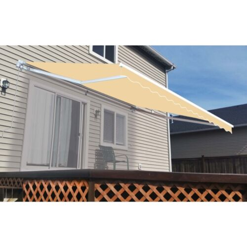 ALEKO Fabric Replacement For 20x10 Ft Retractable Awning Ivory Color