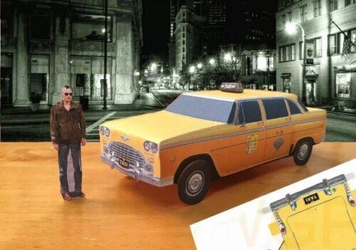 Papercraft Taxi Driver movie Checker Marathon taxicab paper model car U-make