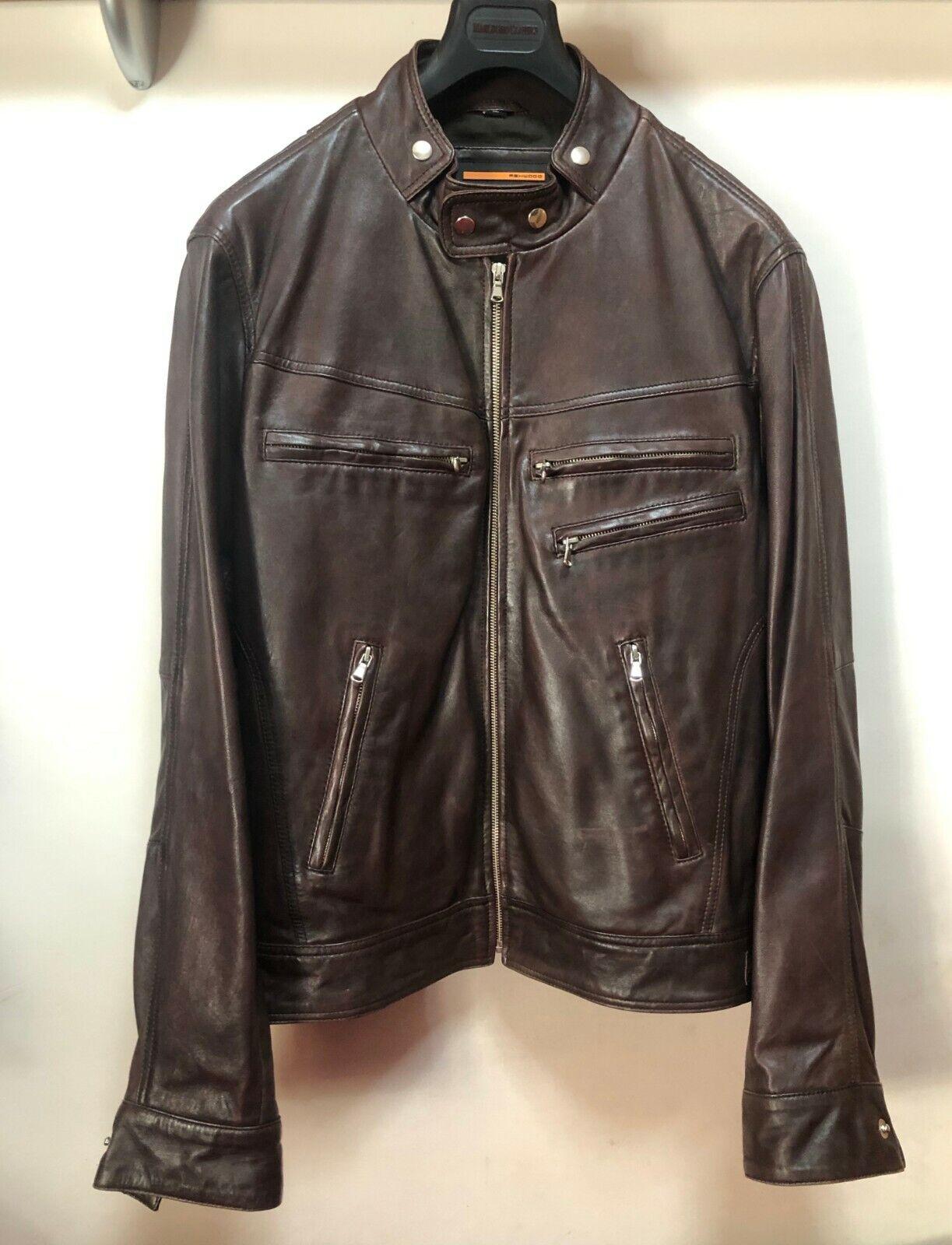 Ashwood Leather Biker Jacket Chaqueta Cazadora Cuero Moto