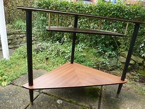 Tapered-legs-with-shelves-COFFEE-TABLE-50s-60s-Mid-Century-MODERNIST-SPUTNIK