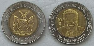 Dedicated Namibia 10 Dollars 2010 P21 Unz. Münzen International