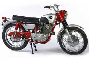 Image Is Loading 1960 039 S HONDA CL77 SCRAMBLER VINTAGE MOTORCYCLE