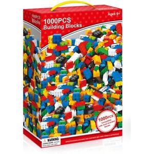 1000 Pieces Building Bricks Blocks Compatible with Lego Brick Build Replace Lost