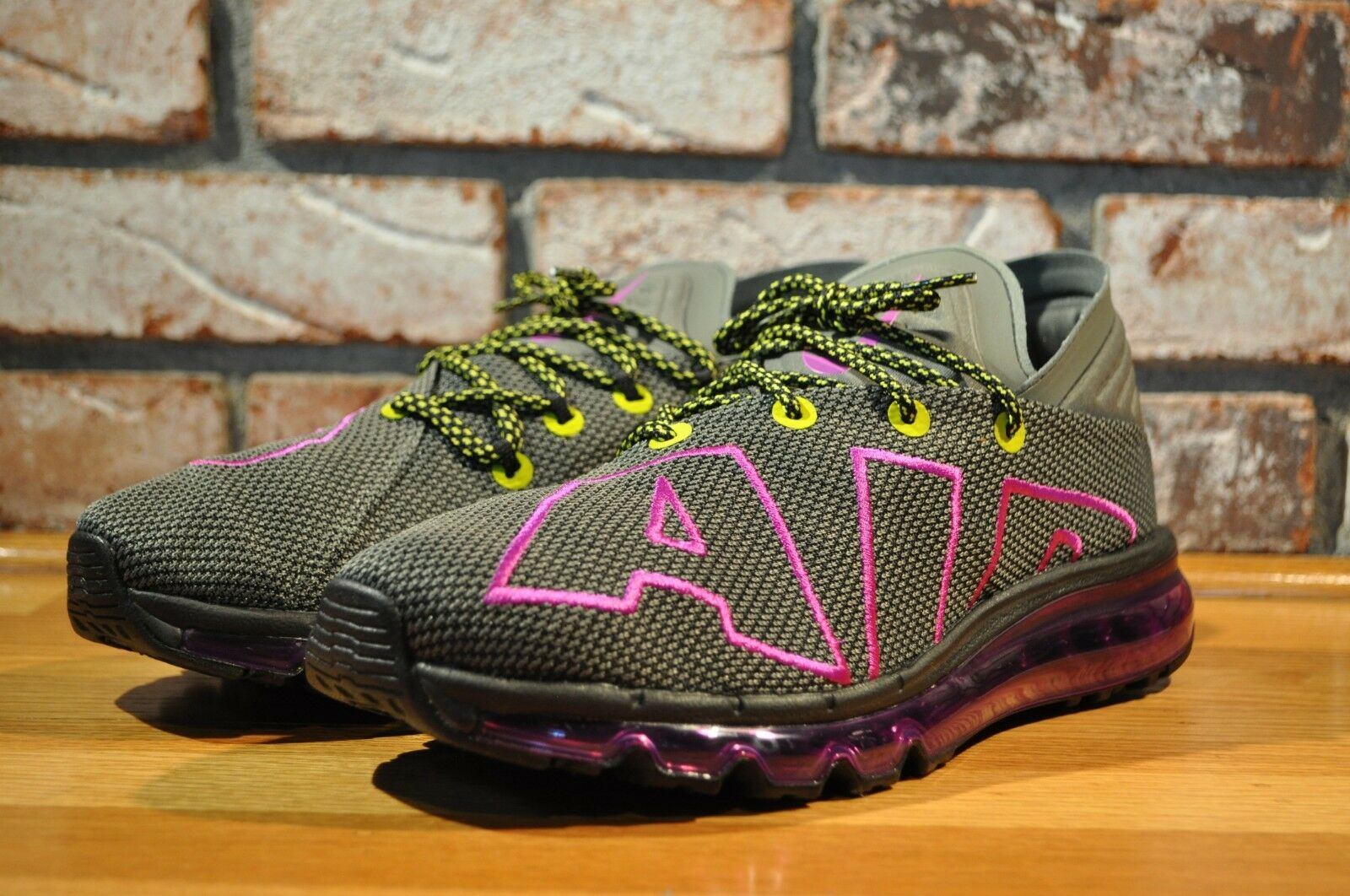 Nike Air Max Flair Up Tempo Running Shoes Shoes Running Gray/Purp/Volt AH9711-001 Size 10 d9eb74