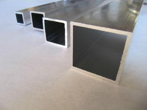 Aluminium boîte carrée tube tailles diverses square profilés creux 2 m 5 m long
