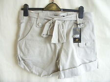 "Ladies Shorts - Criminal, size L, 34"" waist, stone, cotton, BNWT, stylish - 1500"