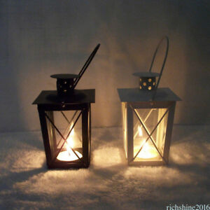 Image Is Loading Vintage Metal Lantern Candle Holder Garden Night Wedding