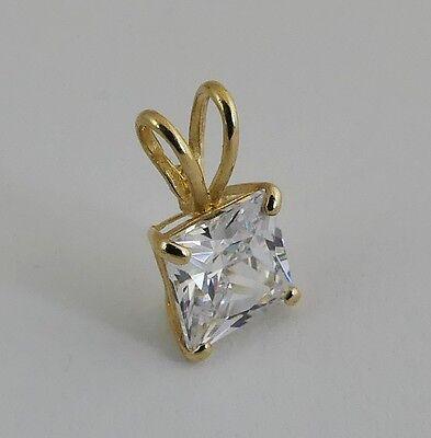 585er gold gelbgold 14 karat anh nger mit zirkonia k289 ebay. Black Bedroom Furniture Sets. Home Design Ideas