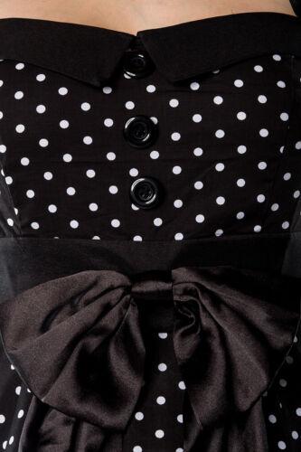 KLEID ROCKABILLY KLEID schwarz mit weißen Punkten 50er Gr S  M  L  X 2XL 3XL