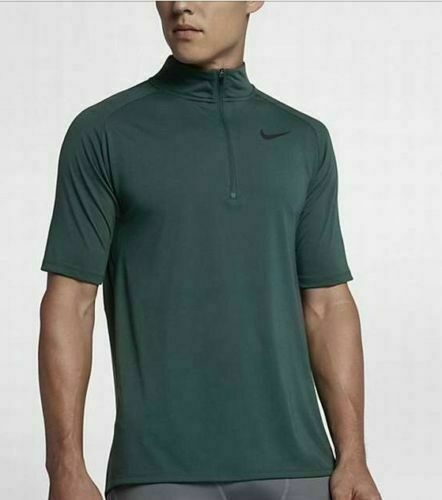 Nike Men/'s Size MEDIUM Tailwind Short Sleeve 1//2 Zip Running Top 859230 010 NWT