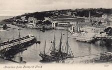 Brixham Harbour from Prospect Road unused old pc Valentines
