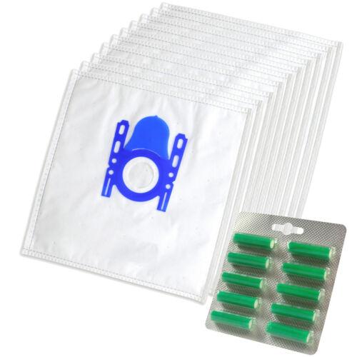 10 Staubsaugerbeutel Duft passend für Siemens VS06A111 Synchropower Staubsauger