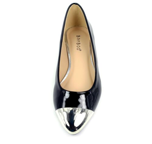 objact-20 New Slip On Casual Round Pointed  Cap Toe Women/'s Flats Shoes Black