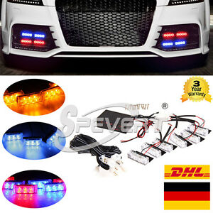 auto kfz 18 led strobe flash blitzer leuchtmittel. Black Bedroom Furniture Sets. Home Design Ideas