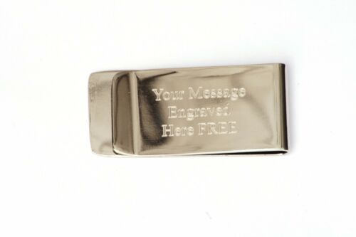 Libra Scales Money Clip Stainless Steel FREE ENGRAVING Birthday Gift