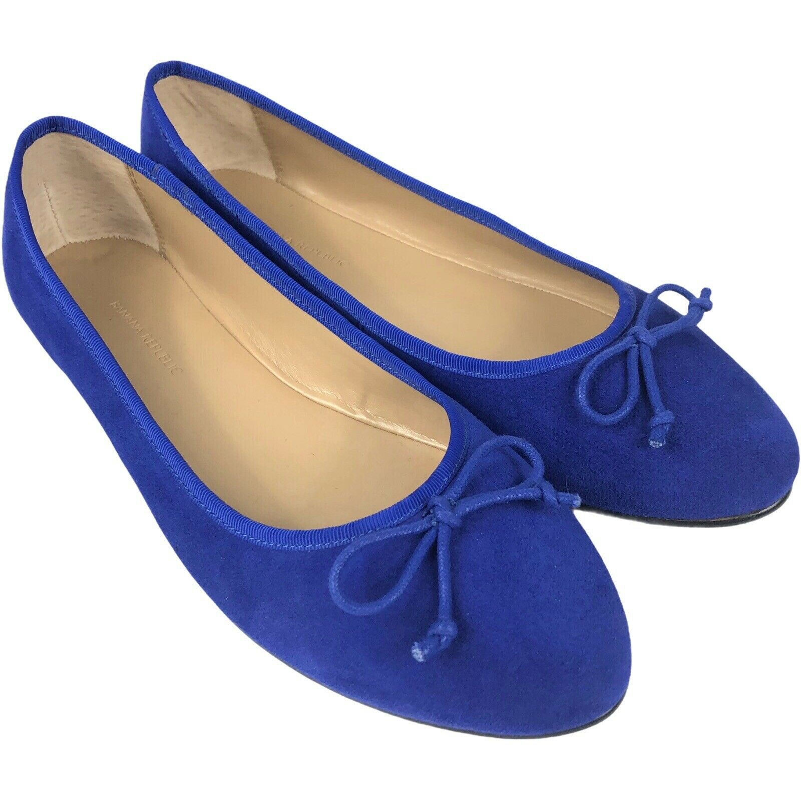 Banana Republic Femme Ballerines Taille 8.5 Ballet Style Daim Bleu