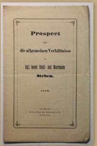 ORIG-folleto-relaciones-generales-para-Steben-1880-balneario-viaje-ortskunde-SF