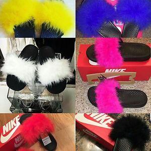 Custom Nike Fur Slides (CHOOSE YOUR