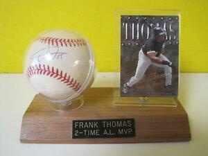 Details About Frank Thomas 35 Autographed Baseball Signed Ball Authentic W Stand Display Card