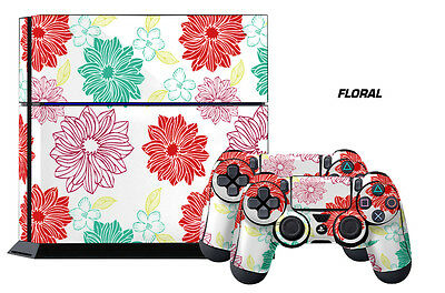 Video Game Accessories Expressive Designer Skin Ps4 Playstation Sticker 4 Console Controller Decals Floral A Plastic Case Is Compartmentalized For Safe Storage Faceplates, Decals & Stickers