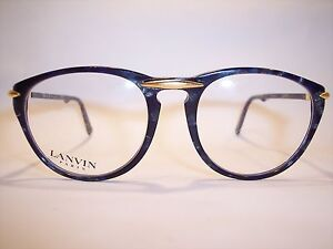 Damen-Brille-Eyeglasses-Lunettes-by-LANVIN-Paris-100-Vintage-Original-90-039-er