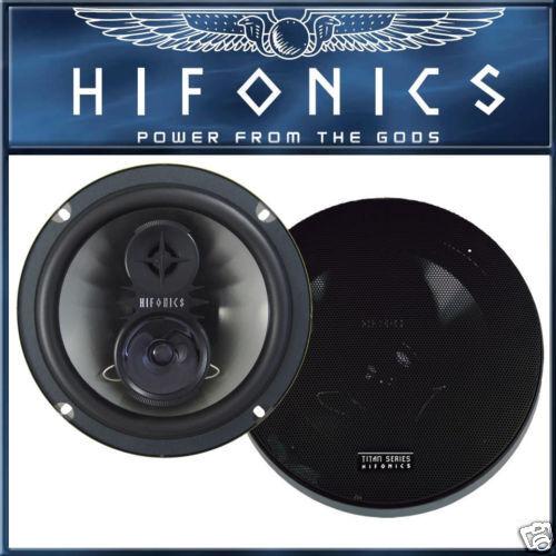 Hifonics 3 vías 200 mm Heck altavoces Serie de titanio