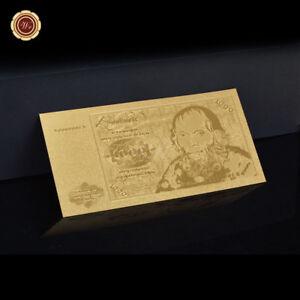WR-Gold-1000-Deutsche-Mark-Banknoten-1980-Alt-deutsche-Gold-Geldschein-Sammlung