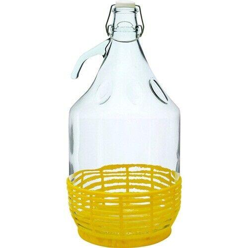 5L Gärballon DRAHTVERSCHLUSS Plastikkorb  Flasche Glasballon Weinballon BRO