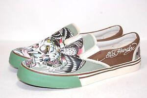 Ed-Hardy-Eagle-Crane-17DK126M-Slip-On-Hommes-Chaussures