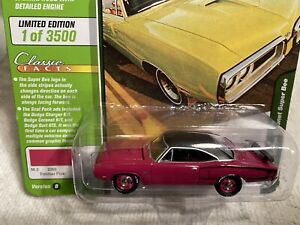 1970-DODGE-CORONET-SUPER-BEE-CAR-pink-JOHNNY-LIGHTNING-1-64-DIE-CAST