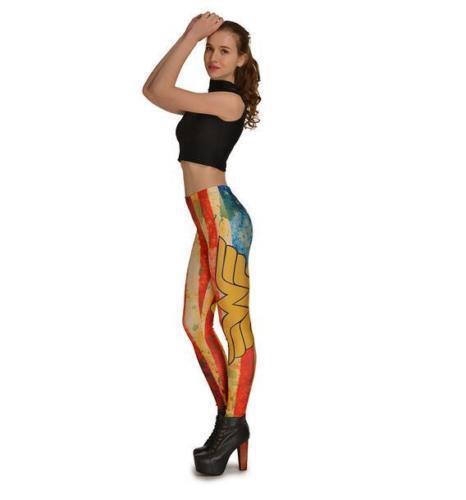 Woman Slim legging Wonder Woman printed legging elastic legging S-4XL 20