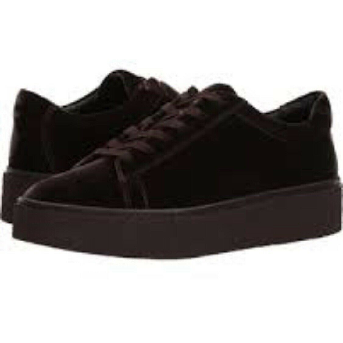 NEW (other) 295 VINCE Neela Women's Women's Women's Platform Sneaker Lace-up Brown Velvet Sz 6.5 e178c0