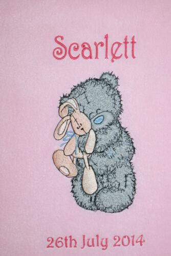 Me To You Tatty Bear With Bunny Personalised Super Soft Fleece Baby Blanket