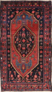Antique-Geometric-Wool-Hand-Knotted-Malayer-Tribal-Persian-Oriental-Area-Rug-3x6