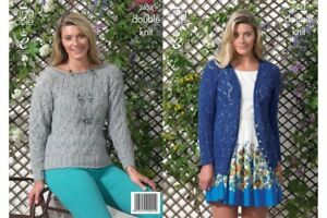 King-Cole-3633-Ladies-Cardigan-and-Sweater-DK