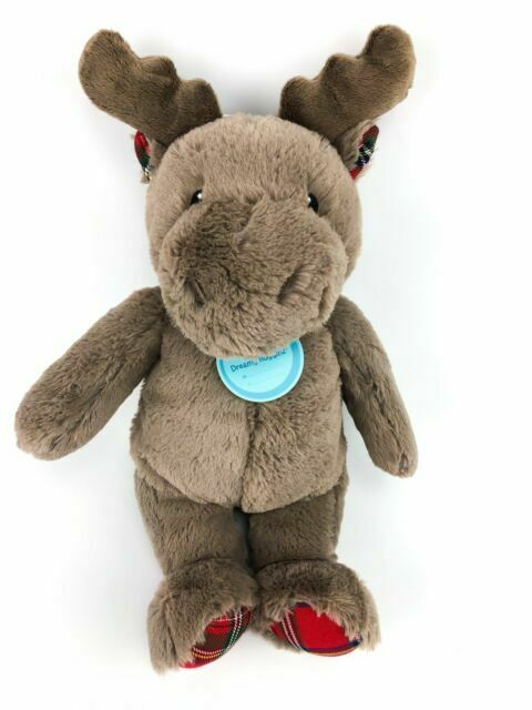 Cloud B Holiday Plush Brown Moose Plaid Red Soft and Snuggly New Stuffed Animal