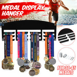 Personalised Triathlon Medal Holder Rack Hanger 3 Tier In Black 5mm Acrylic