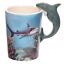 thumbnail 19 - Animal Shaped Handle Ceramic Mug Tea Coffee Cup Novelty Gift Jungle Tropical