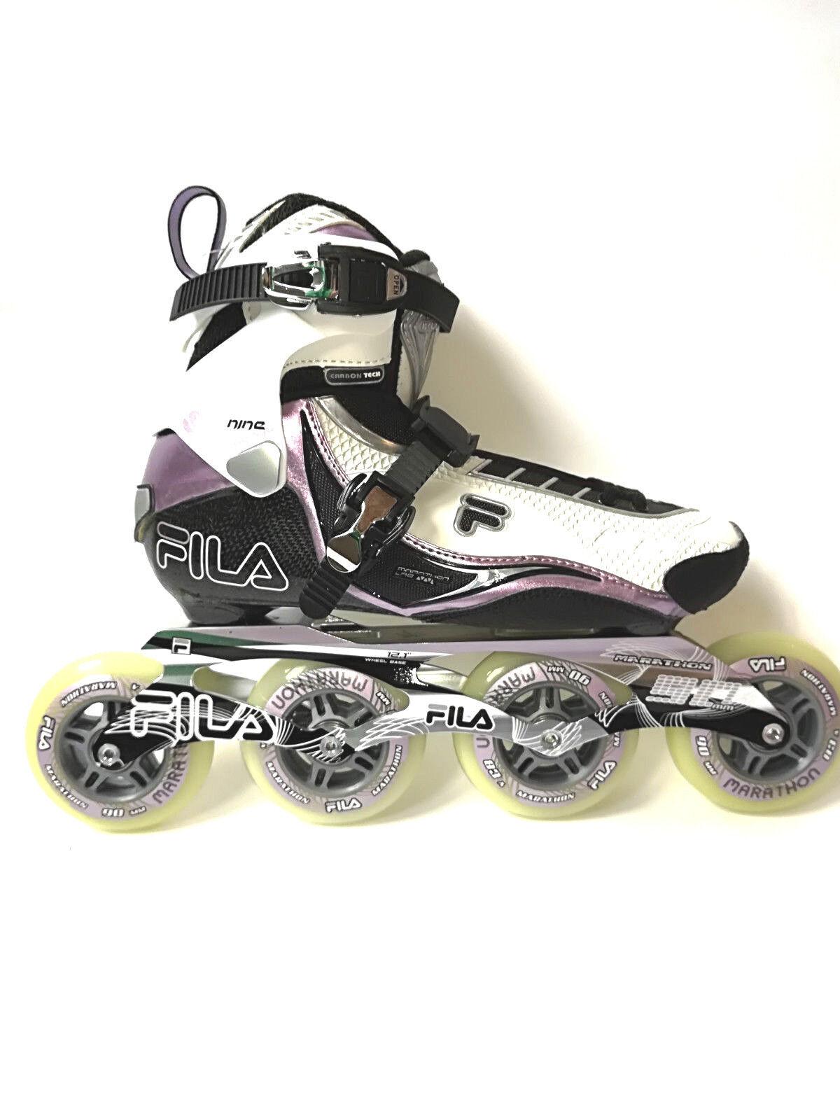 Fila Nine 90 Lady Weiß lila Speedskate Marathon  Speedskate lila Inliner Skates 1025 Gr. 40 9b0c53