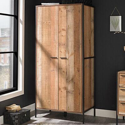 Oak Effect Double Wardrobe Bedroom