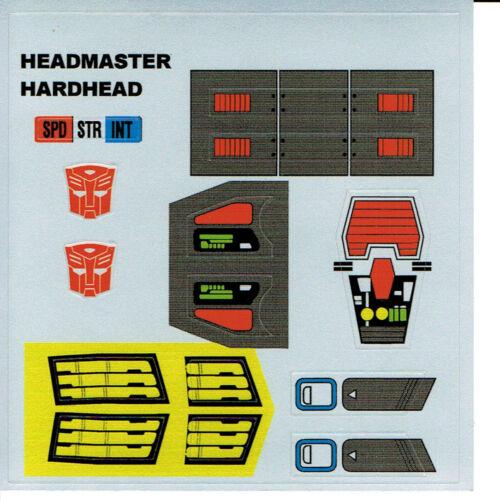 STICKERS G1 AUTOBOT HARDHEAD REPRO LABELS TRANSFORMERS GENERATION 1