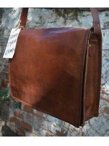 8f46ade48da0a Das Bild wird geladen Aktentasche-Lehrertasche-Schultasche-Leder-Tasche- vintage-spitze-Umhaenge-