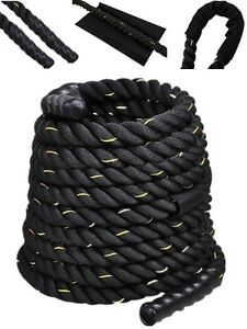 "2"" 40FT Poly Dacron Battle Rope Exercise Workout Strength Training Undulation"