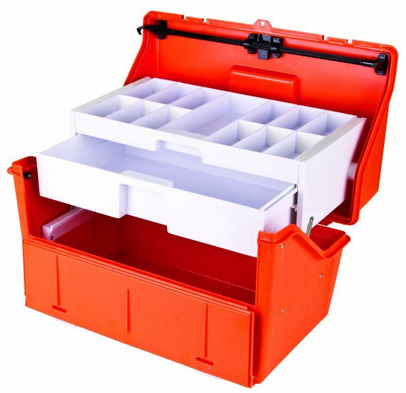 Flambeau truama droga Kit 2 Estante Caja de los trastos Caja EMS EMT Paramédico droga