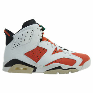 052298b8e45 Air Jordan 6 Retro Gatorade Mens 384664-145 White Orange Black Shoes ...