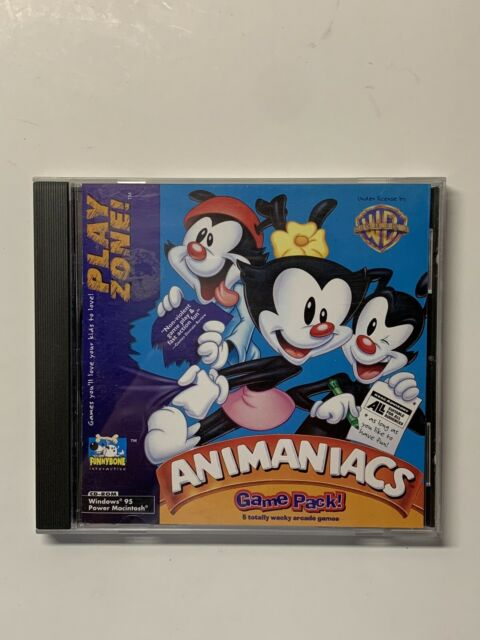 Animaniacs Game Pack 1997 CD-ROM Windows 95/ Power Mac Tested/Working
