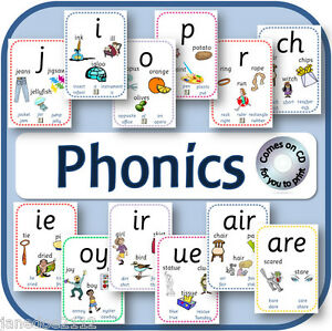 Details about PHONICS pdf FLASH CARDS CD POSTERS DISPLAY EYFS KS1 ENGLISH  TEACHING RESOURCES