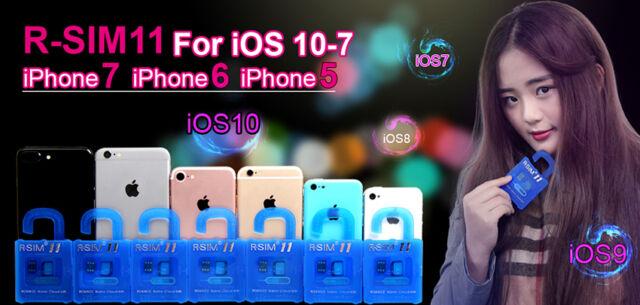 R-SIM11 For iPhone 7&6S&6&5&4S IOS10.X&9.X&8.X&7 General Nano Cloud Unlock Card